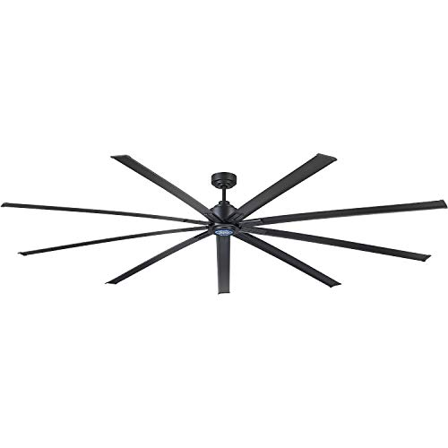 """96"""" Industrial Ceiling Fan, 6 Speeds with Controller, Gray"""