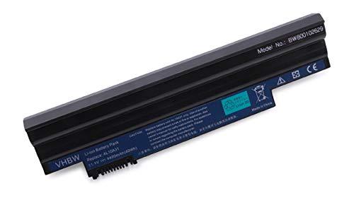 vhbw Batterie LI-ION 4400mAh 11.1V Noire pour Acer Aspire One D260E etc. remplace AL10A31, AL10B31, AL10BW, AL10G31, BT.00603.121 etc.