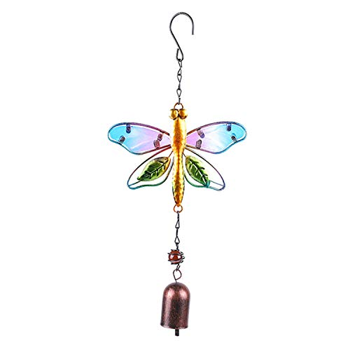 Pedkit Glass Wind Chime Bird Dragonfly Shaped Hanging Ornament Multi-Tube Wind Chimes Thanksgiving Day Home Outdoor Garden Balcony Backyard Church Festival Hanging Christmas Decoration Wind Chime