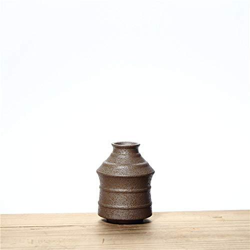 Mumozzz Moderne retro mini bruine aardewerk oven vaas huisdecoratie