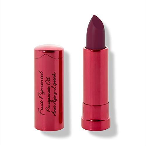 100% PURE Pomegranate Oil Anti-Aging Lipstick (Fruit Pigmented), Black Rose, Long Lasting, Satin Finish, Vibrant Color, Moisturizing Cocoa Butter (Cool Deep Wine) - 0.15 oz