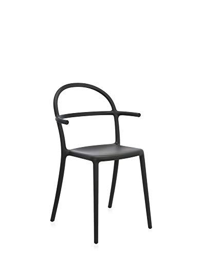 Kartell Generic C, Chaise, Noir, Lot de 2