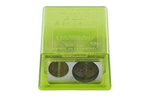 KUM AZ103.20.19-G - Kleiner Behälterspitzer 2-in-1 M2 G, aus Magnesium, grün, 1 Stück