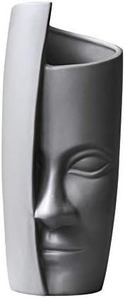 Face Vase Opening large Detroit Mall release sale Head Modern Ceramic Holder Plant Flower Sculpture