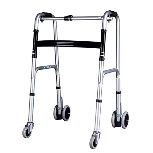 AWJ Marco para Caminar de Altura Ajustable de Aluminio Ligero Plegable para Adultos Mayores discapacitados