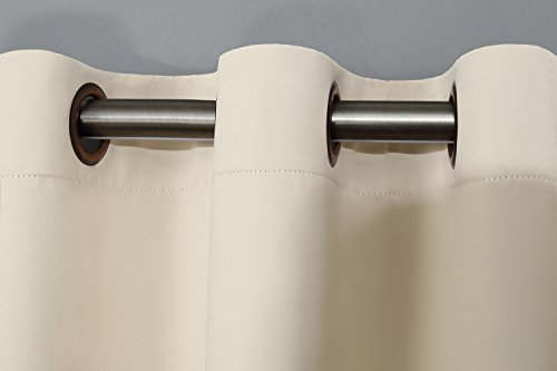 RHF Privacy Room Divider Curtain 8.5ft Wide x 9ft tall: No one can see through, Total Privacy(8.5x9 Beige)