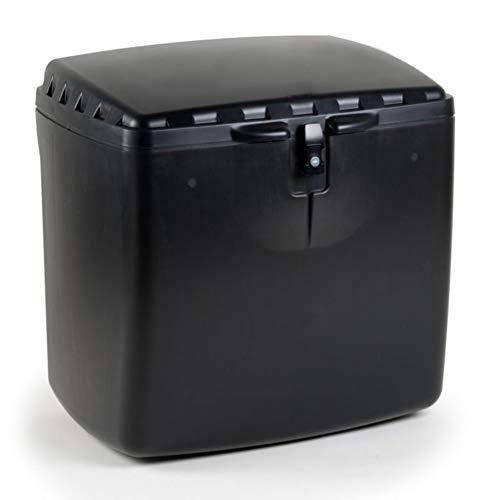 GRAN SCOOTER Baúl Trasero Mega Box Con Cerradura (Capacidad 100 litros, Material Polipropileno, Cierre Con Llave, Perfecto Para Reparto A Domicilio) - Negro