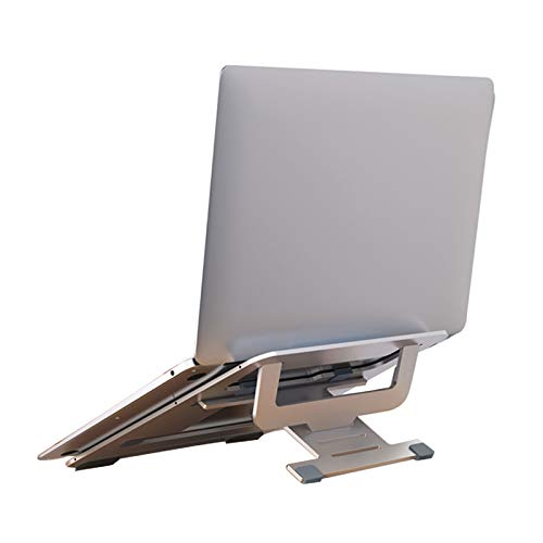 Soporte para Computadora De Aluminio Soporte para Portátil Plegable Ventilado Altura Ajustable Portátil Antideslizante para Tabletas Computadora Portátil MacBook