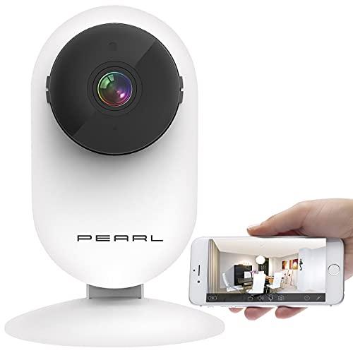 PEARL IP Kamera ohne Internet: Full-HD-IP-Kamera, Bewegungserkennung, Nachtsicht & microSD-Aufnahme (Überwachungskameras ohne WLAN)
