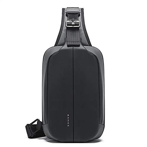 OZUKO Casual Sling Bag, Chest Bag for Men Women Waterproof Business Shoulder Crossbody Backpack for Outdoor Sport Travel Hiking (gray)