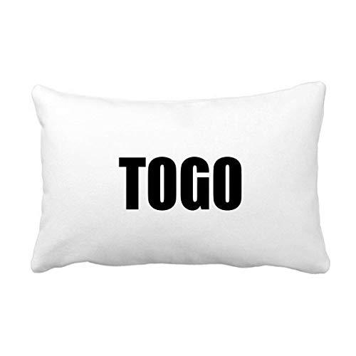 DIYthinker Togo País Nombre Negro Throw Almohada Lumbar Inserte la Cubierta del Amortiguador del hogar del Regalo de la decoración del sofá
