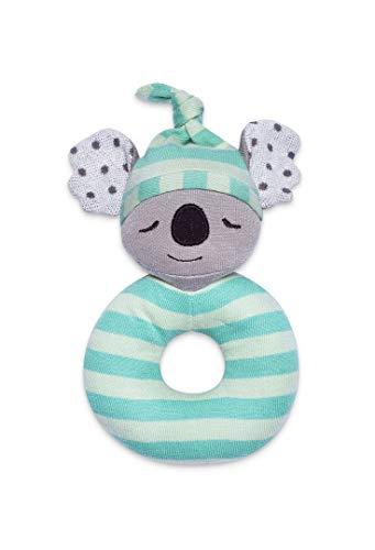 Apple Park Organic Farm Buddies - Kozy Koala Teething Rattle, Baby Toy for Infants - Hypoallergenic, 100% Organic Cotton