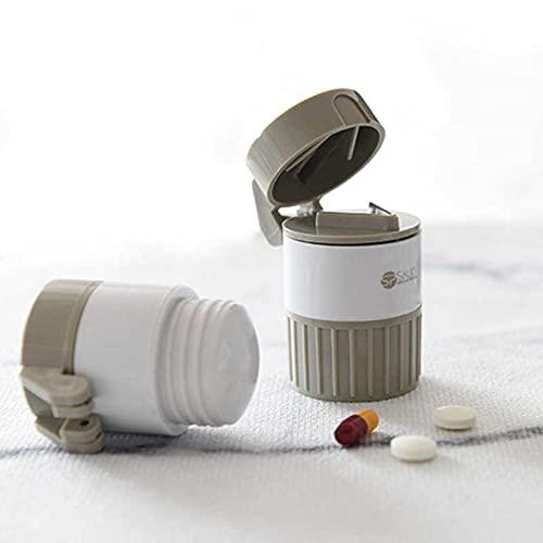 DOCTOR LE PARCO Medicine Crusher Pill Cutter For Tablets 4 In 1 Portable Case Pills Splitter Dispenser Broken Mill Drug Separator Pill Divider