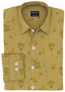 Tailorman Khaki Floral Print Shirt