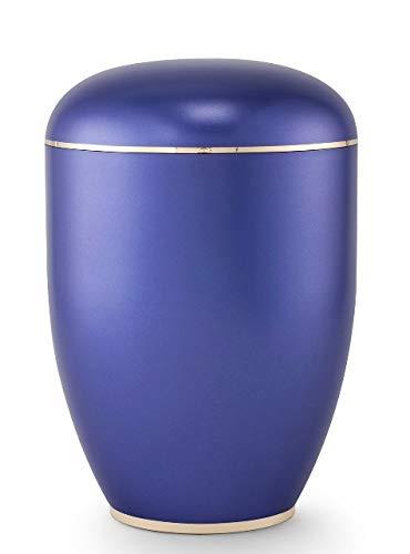 The Coffin Company Creatio Special Edition Urne für Asche, handgefertigt, biologisch abbaubar, Perlmuttviolett und polierter Boden
