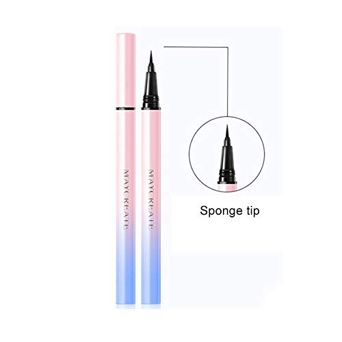 Yiitay Eyeliner Liquid Eyeliner Pen, Crayon crayon contour des yeux imperméable, Rester toute la journée, Noir précis