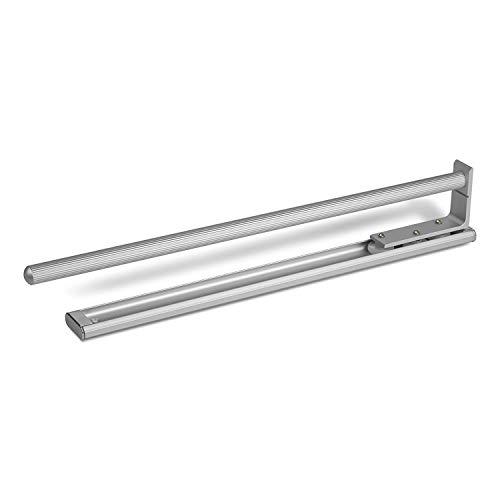 SO-TECH® Ausziehbarer Handtuchhalter 1-armig 440 mm Aluoptik Handtuchstange Handtuchauszug