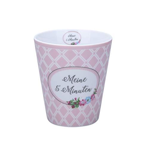 Krasilnikoff - Becher, Tasse - Happy Mug - Meine 5 Minuten - ca. 330 ml - Höhe: 10 cm