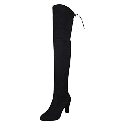 stivali sopra ginocchio pelle Beauty Top Stivali Donna Invernali