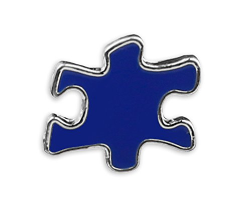 Fundraising For A Cause | Autism Blue Puzzle Piece Shaped Pins– Pins for Autism Spectrum Disorder Awareness in a Bag (1 Pin)