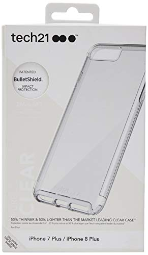 Tech21 Impact Clear Phone Case for Apple iPhone 8...