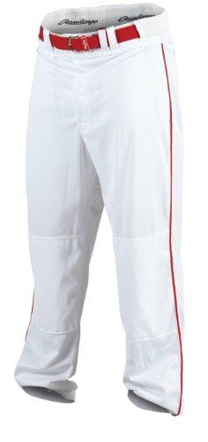 RAWLINGS Hombres de béisbol para Hombre, Pantalones, Hombre, Color White/Scarlet, tamaño X-Large