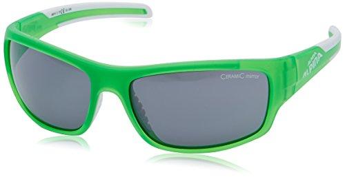 ALPINA Sonnenbrille Amition TESTIDO Outdoorsport-Brille, green matt-white, One Size