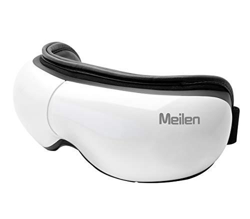 Masajeador de ojos con calor, masajeador de ojos, Bluetooth, recargable, portátil, masajeador Shiatsu para aliviar la tensión ocular, ojeras, bolsas de ojos para ojos secos, máscaras para dormir