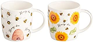 Price & Kensington Honey Bee Mugs Assorted, Multicoloured, 340ml