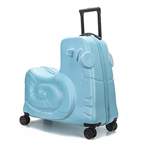 Valigia cavalcabile per bambini da 20 pollici 52X50X26 cm Chiusura a combinazione rigida in ABS 3,1 kg 4 ruote Bagaglio a mano