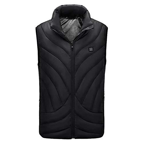 Jinclonder 2019 Elektrisch verwarmd vest, infrarood verwarming drie standen temperatuurregeling wasbaar verwarmde kleding voor winter skiën, wandelen, motorfiets, vissen, camping en nog veel meer