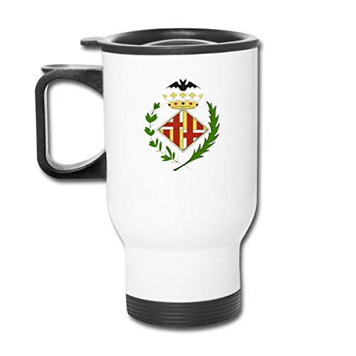 Termo de acero inoxidable con aislamiento al vacío Old Fc Barcelona Logo Taza de viaje esmerilada de moda para bebidas calientes/frías, café o té