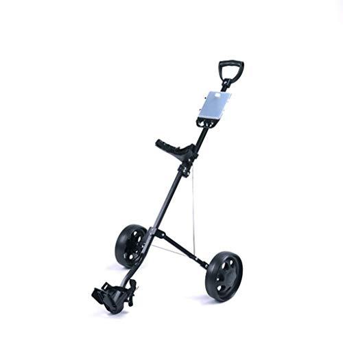 KUANDARGG Golf Push Cart, Golf Cart Für Golftasche, Golfzubehör Für Damen Und Herren Golf Pull Cart Für...