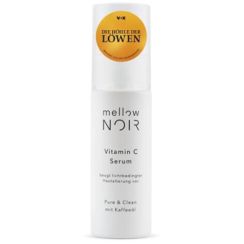 mellow NOIR Vitamin C Serum | beugt lichtbedingter Hautalterung vor | vegan, klimaneutral & clean | Anti Aging Gesichtsserum mit Vitamin C | 30 ml | zertifizierte Naturkosmetik zur Gesichtspflege