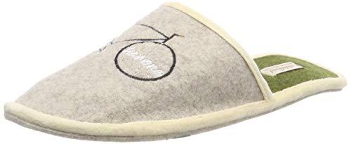 Adelheid Sportskanone Filzpantoffel, Größe:40/41, Farbe:Eiche