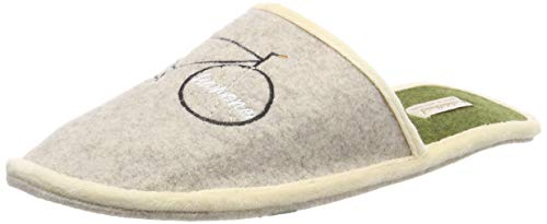 Adelheid Sportskanone Filzpantoffel, Größe:44/45, Farbe:Eiche