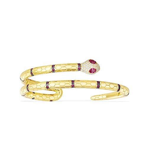 EJjewelry Tailored for Women Yellow Silver Uraeus Bracele with apm/Monaco