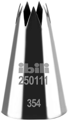IBILI Étoile Spritztülle Offener Stern 11 mm, Edelstahl, Silber, H 50 MM