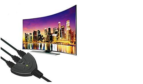 3 Port HDMI Switch Adapter AV Switcher Selector Converter Splitter Hub Cable for HDTV 1080P Xbox