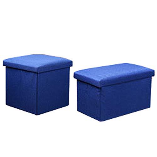Aufbewahrungsbox, Schrank-Organizer, faltbar, würfelförmig, für Stühle, Kommoden, Schubladen, Behälter mit staubdichtem Deckel, 2 Stück (blau)