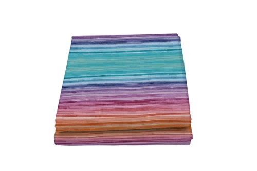 Italian Bed Linen Fantasy Rainbow Telo Copritutto Stampato 2 Posti, Microfibra