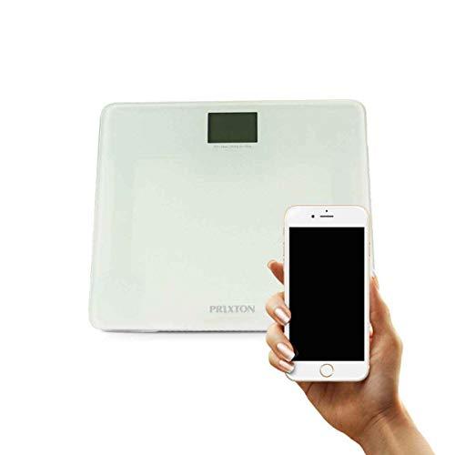 PRIXTON - Bascula de baño digital/Peso digital con Pantalla LCD y Blu