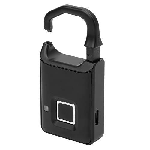 Candado de Huellas Dactilares, IP65 Cerradura de Huellas Dactilares a Prueba de Agua Cerradura Bluetooth Cerradura Inteligente USB Recargable sin Llave para almacén, Gimnasio, gabinetes, Oficina (P4)
