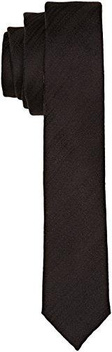 Calvin Klein Herren Krawatte Naples, Schwarz (Perfect Black), Eins Größe (Hersteller Größen:Eins Größe)