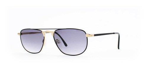 Missoni 833 26P Schwarz Gold Aviator Zertifiziert Vintage Sonnenbrille für Herren und Damen