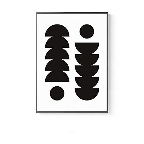 LiMengQi2 Pluma nórdica abstracción geométrica Lienzo Pintura Figura Impresiones Carteles Arte de la Pared imágenes para Sala de Estar Morden decoración del hogar (sin Marco)