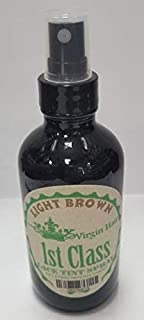 Lace Tint Spray 4oz for Wigs, Frontals and Closures by 1ST CLASS (LIGHT BROWN)