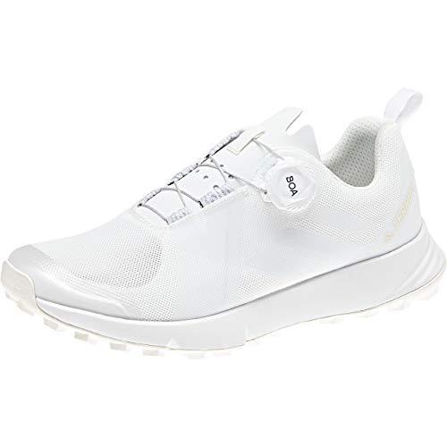 adidas Terrex Two Boa, Zapatillas de Running para Asfalto Mujer, Blanco (Nondye/Ftwwht/Aergrn Nondye/Ftwwht/Aergrn), 43 1/3 EU