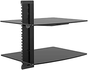 Wali Floating Shelf with Strengthened Tempered Glass