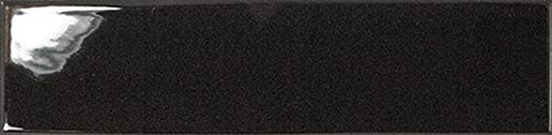 Nais - Baldosas cerámicas para paredes de interior - Colección Dunas - Color Black Gloss (6x24,6 cm) - Caja de 1 m2 (68 piezas)